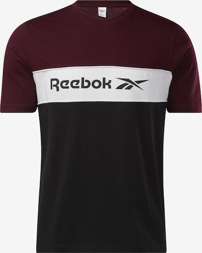 Reebok Classic T-Shirt in weinrot / schwarz / weiß, Produktansicht
