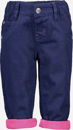 BLUE SEVEN Thermohose in blau / pink: Frontalansicht