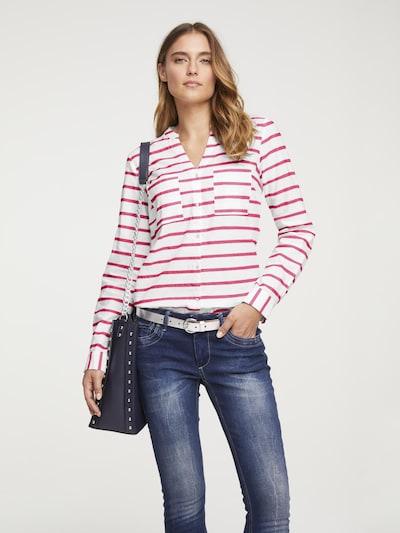 heine Bluse in rot / weiß, Modelansicht