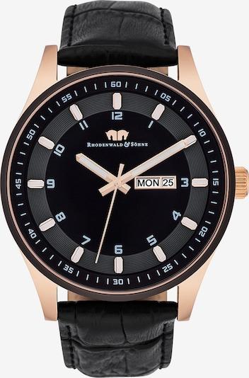 Rhodenwald & Söhne Uhr 'Couragian' in rosegold / schwarz, Produktansicht
