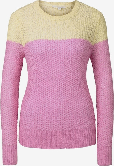 TOM TAILOR DENIM Pullover in gelb / pink, Produktansicht