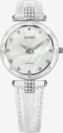 JOWISSA Quarzuhr 'Facet Strass' Swiss Ladies Watch in silber / weiß, Produktansicht