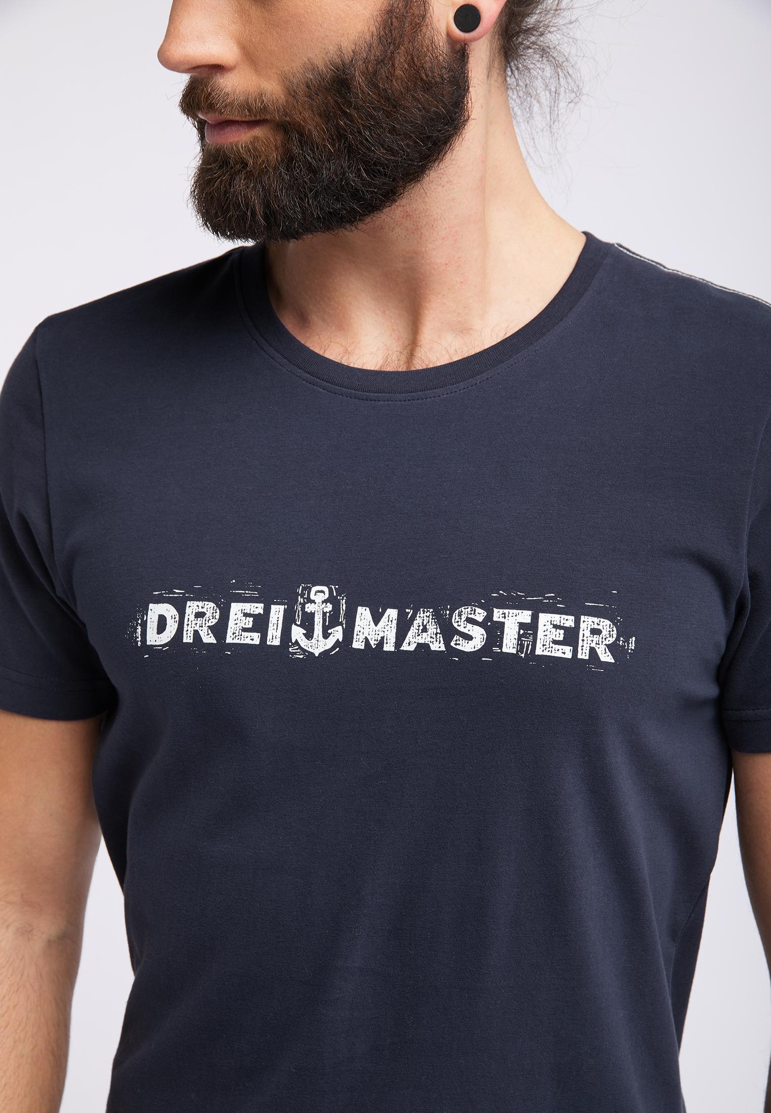 DREIMASTER Shirt in Marine / Wit akRHuHU2