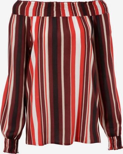 Aniston CASUAL Carmenbluse in dunkelrot / schwarz, Produktansicht
