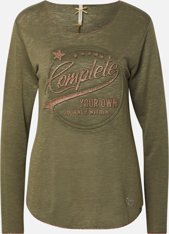 Key Largo Shirt 'WLS OWN' in khaki / mischfarben, Produktansicht