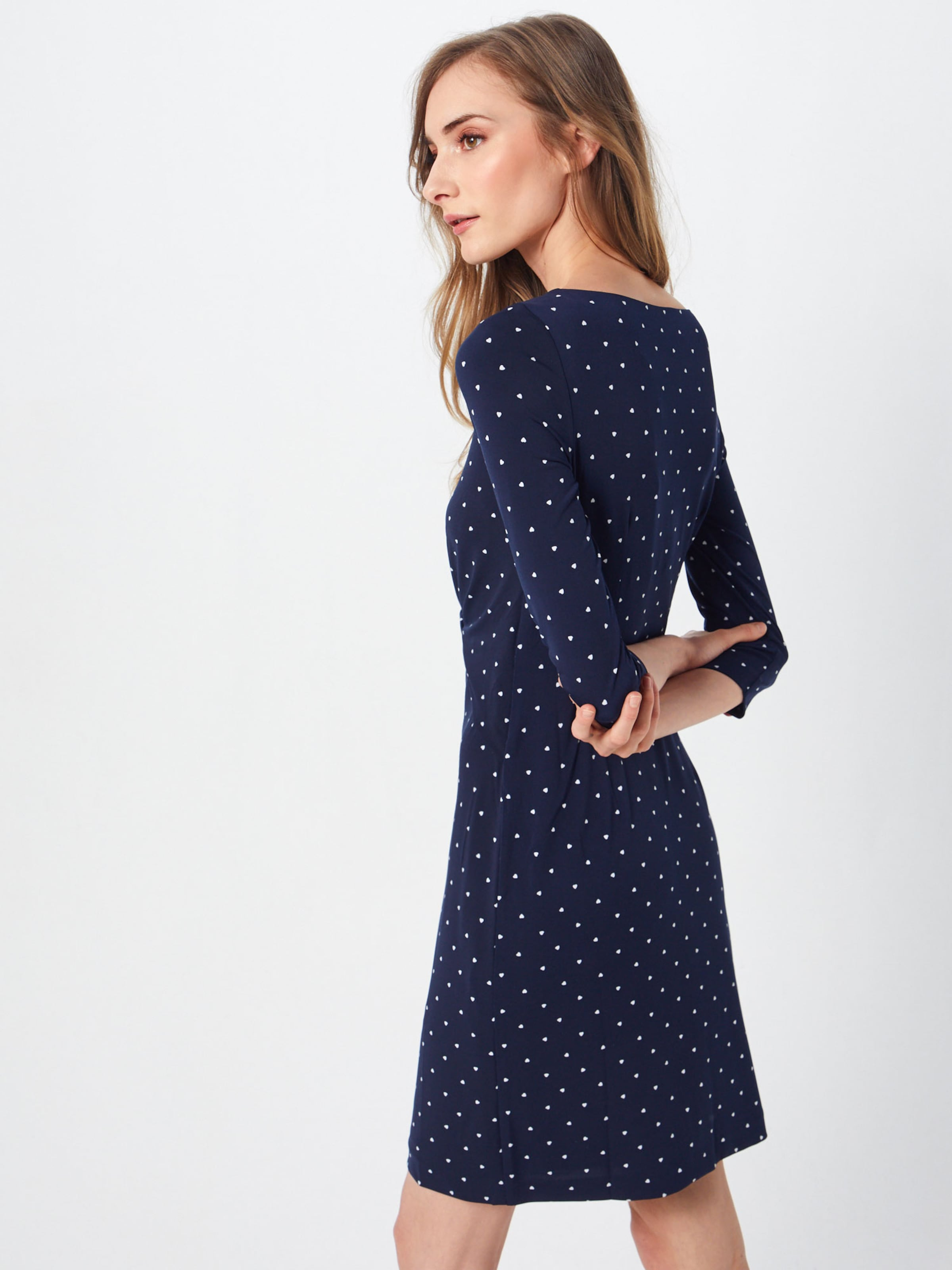 Kleid S 'knoten' Label DunkelblauWeiß In oliver Black FJ3clK1T