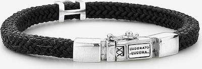 Buddha to Buddha Armband 'Denise Cord' in schwarz / silber, Produktansicht