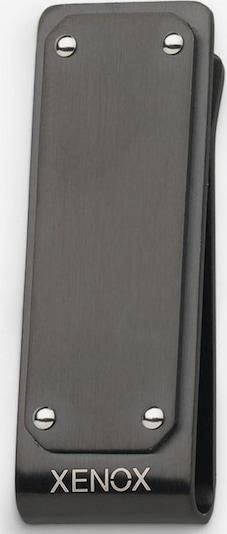 XENOX Geldscheinklammer in grau, Produktansicht