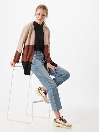 JACQUELINE de YONG Gebreid vest 'ELANORA' in Lichtbruin