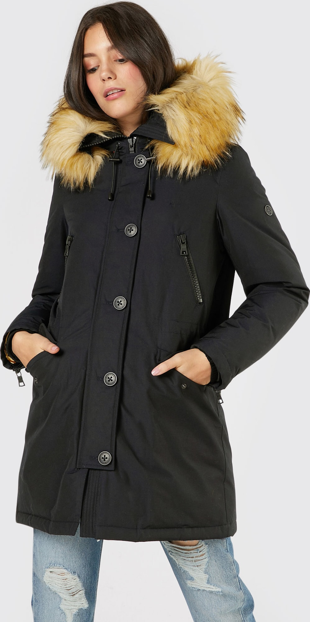 blonde no 8 winterparka 39 polar 39 in blauw about you. Black Bedroom Furniture Sets. Home Design Ideas