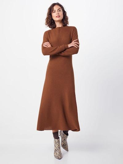 SET Sukienka z dzianiny w kolorze brązowym: Widok z przodu