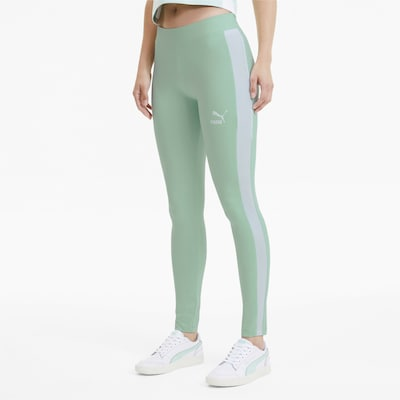 PUMA Leggings in mint / weiß, Modelansicht