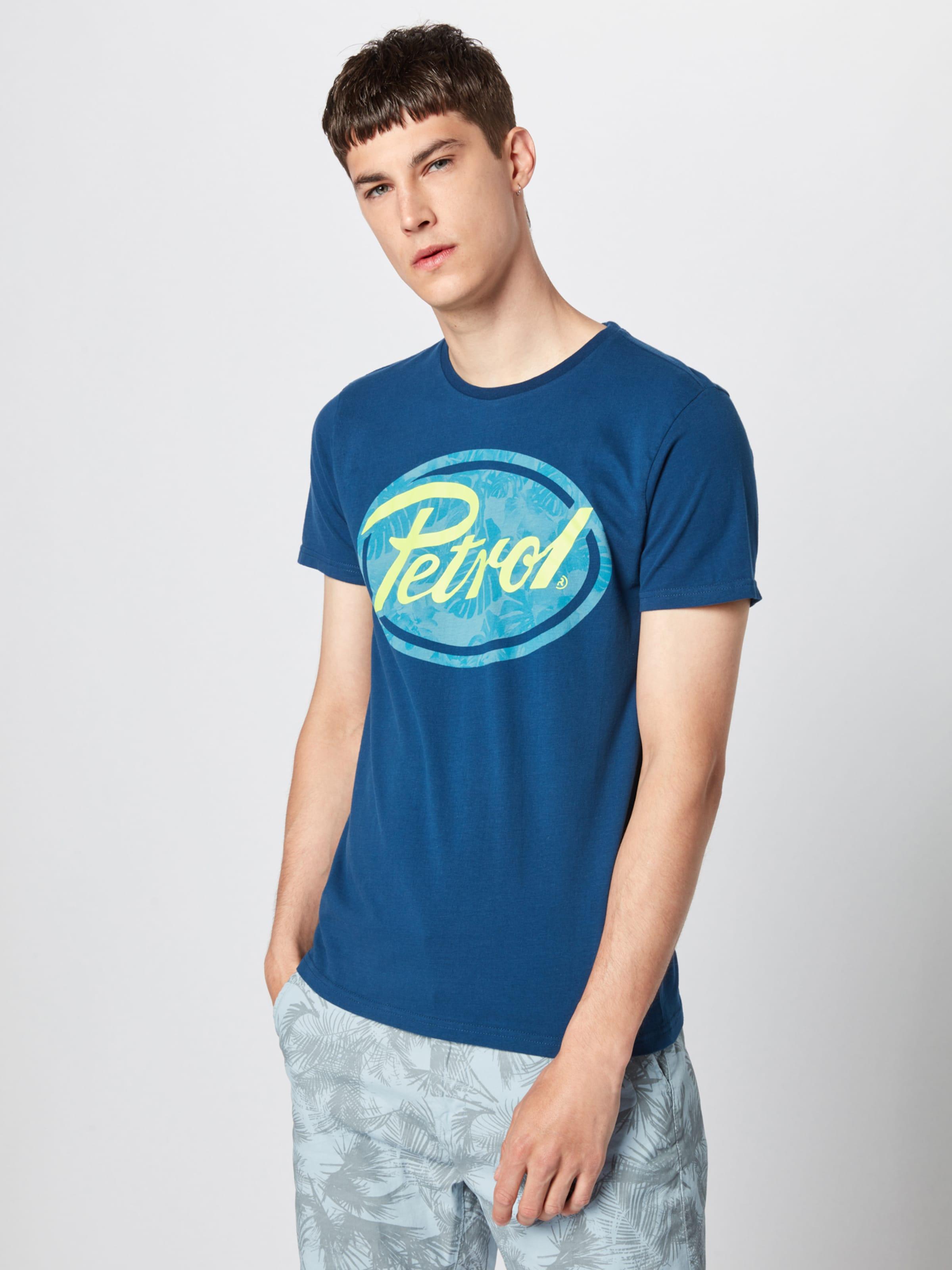 Petrol Industries shirt En Bleu FoncéJaune T sCxtQhrd