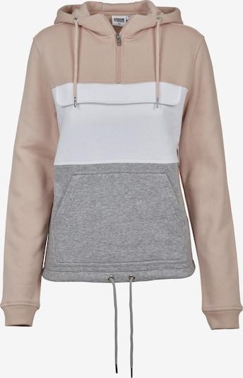 Urban Classics Sweatshirt in grau / altrosa / weiß, Produktansicht