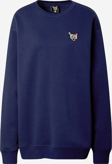 PARI Sweat-shirt 'SPORTS CLUB CAT' en bleu marine, Vue avec produit