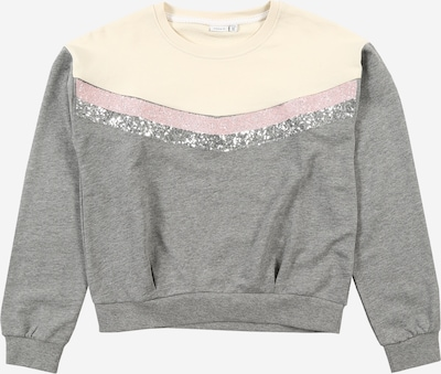 NAME IT Sweatshirt in creme / graumeliert / pink, Produktansicht