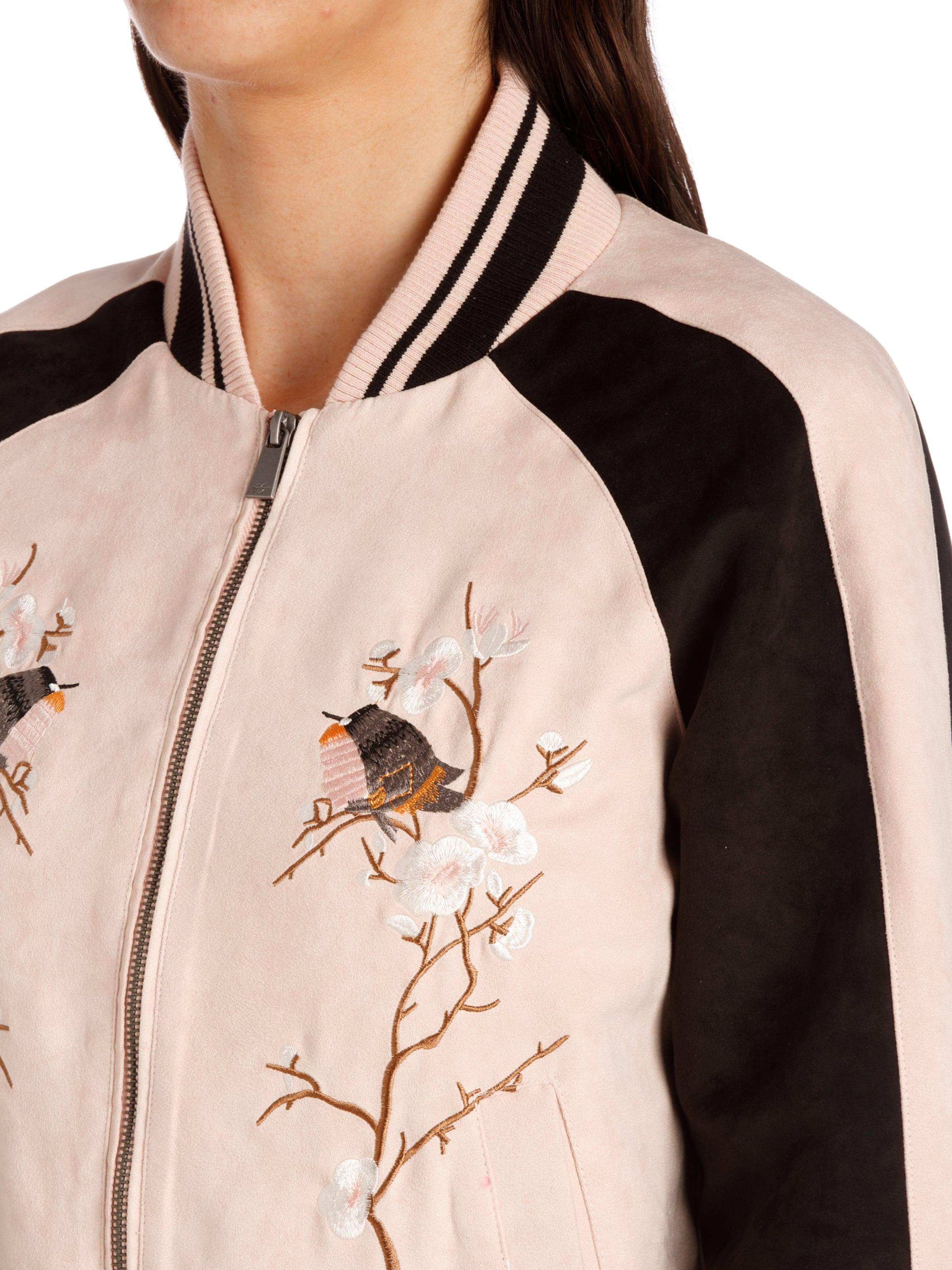 Fritzi aus Preußen Bomber Jacket ' Greensboro Fake Suede Embroidery ' Erhalten Zu Kaufen iWOrzy