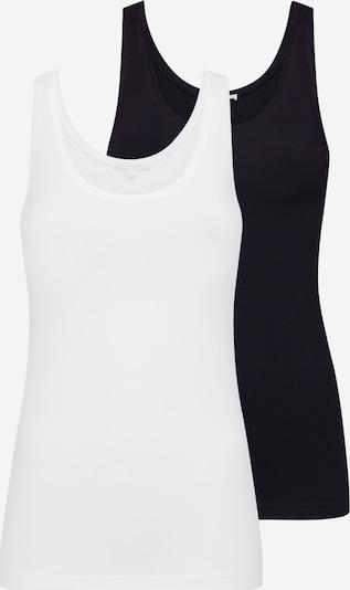 TOM TAILOR DENIM Tops in schwarz / weiß, Produktansicht