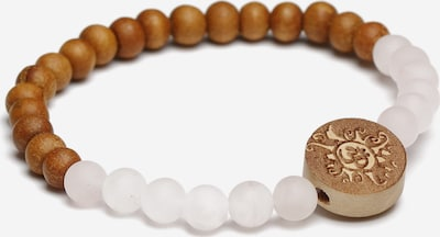 YOGISTAR.COM Armband 'Handala' in braun / weiß, Produktansicht