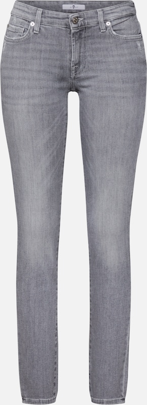 7 for all mankind Jeans 'PYPER SLIM ILLUSION NEW DAWN' in grau: Frontalansicht