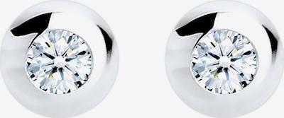Diamore Ohrringe 'Kreis' in silber, Produktansicht