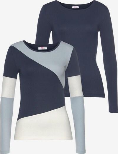 FLASHLIGHTS Shirt in navy / hellblau / weiß, Produktansicht