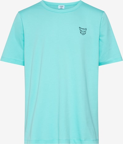 ABOUT YOU X PARI Shirt 'Jim' in de kleur Turquoise / Zwart, Productweergave
