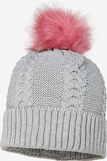 MAXIMO Mütze in grau / rosé: Frontalansicht