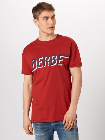 Derbe T-Shirt 'D_to_E Boys' in blau / rot: Frontalansicht