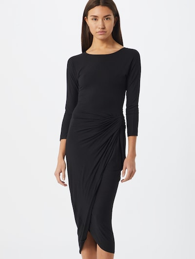 tigha Kleid 'Bess' in schwarz: Frontalansicht