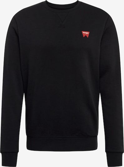 WRANGLER Sweatshirt 'SIGN OFF CREW' in schwarz, Produktansicht