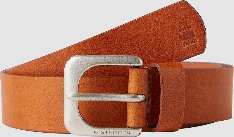 G-STAR RAW Ledergürtel mit Dornschließe im Vintage-Style 'zed'