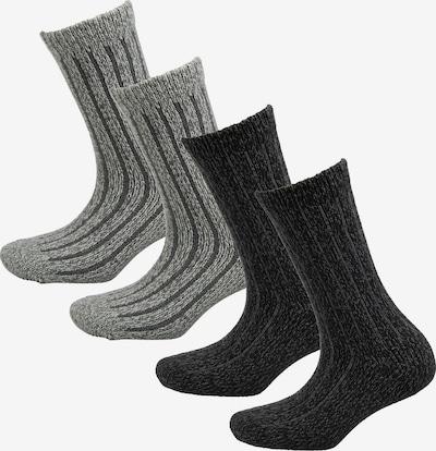 s.Oliver Socken in hellgrau / schwarz, Produktansicht