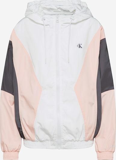 Calvin Klein Jeans Tussenjas 'COLOR BLOCKING WINDBREAKER' in de kleur Grijs / Rosa / Wit, Productweergave