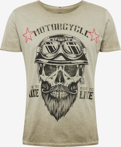 Key Largo T-Shirt 'MT BEARDED BIKDER' en kaki: Vue de face