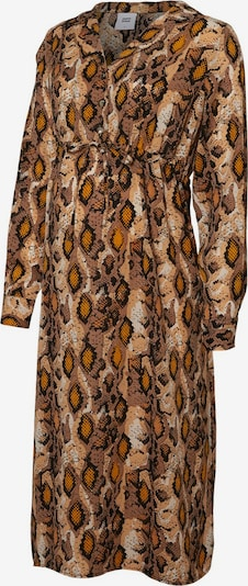 MAMALICIOUS Kleid in braun / cognac / hellbraun / schwarz, Produktansicht