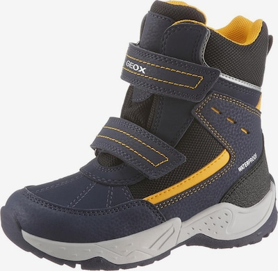 GEOX Kids Stiefel in blau / gelb / schwarz, Produktansicht
