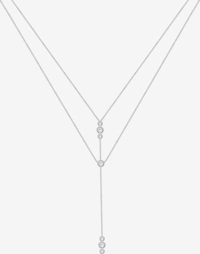 ELLI Ketting 'Layer' in de kleur Zilver / Wit, Productweergave