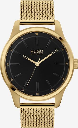 HUGO Uhr in gold / schwarz, Produktansicht