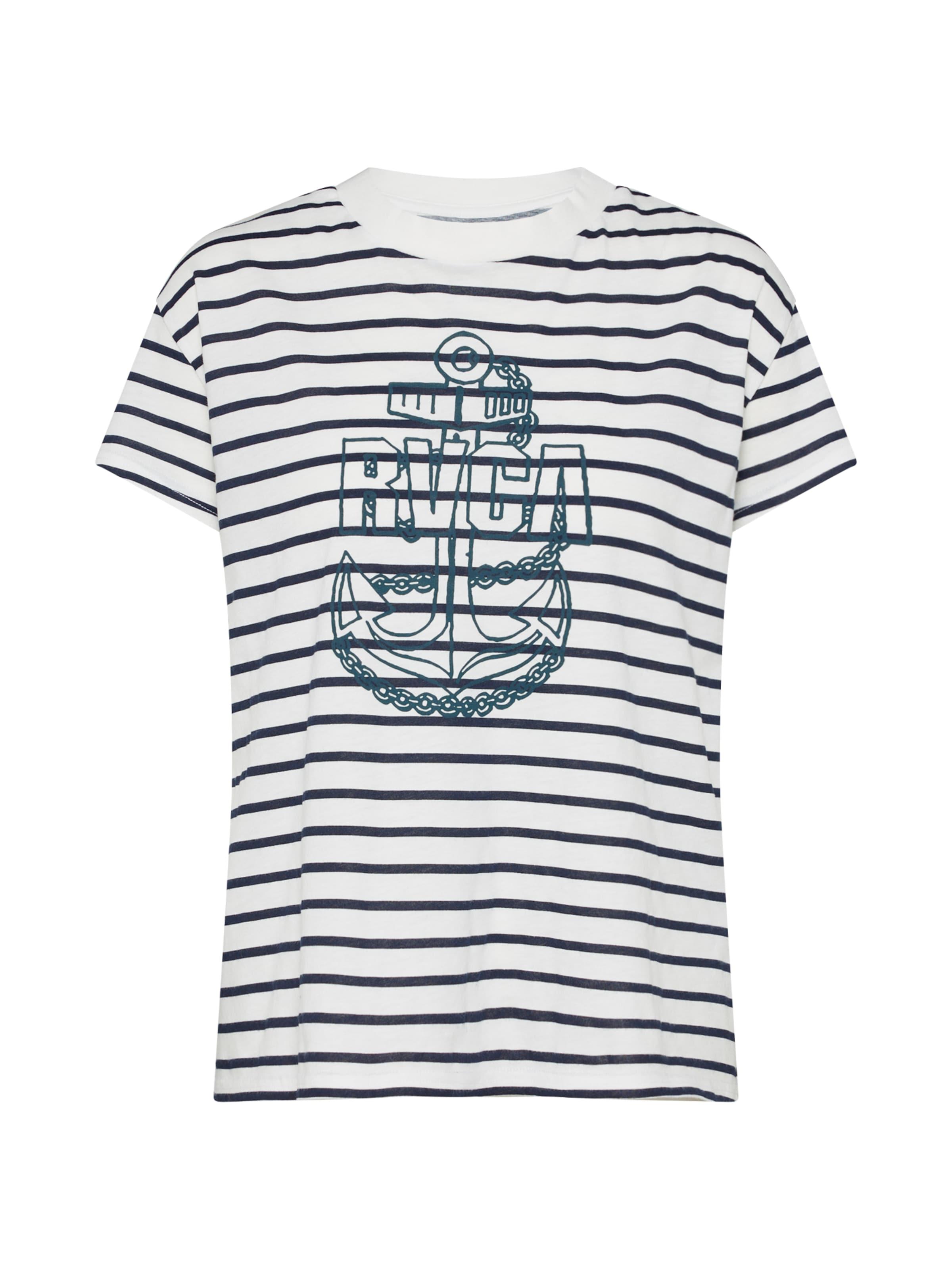 T 'safe Harbor' shirt Rvca In NavyWeiß 7byf6vYgIm