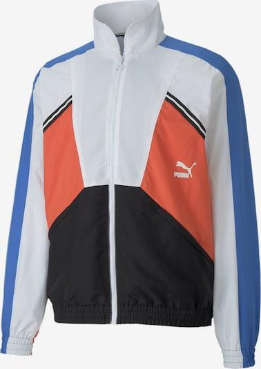 PUMA Trainingsjacke in himmelblau / koralle / schwarz / weiß, Produktansicht