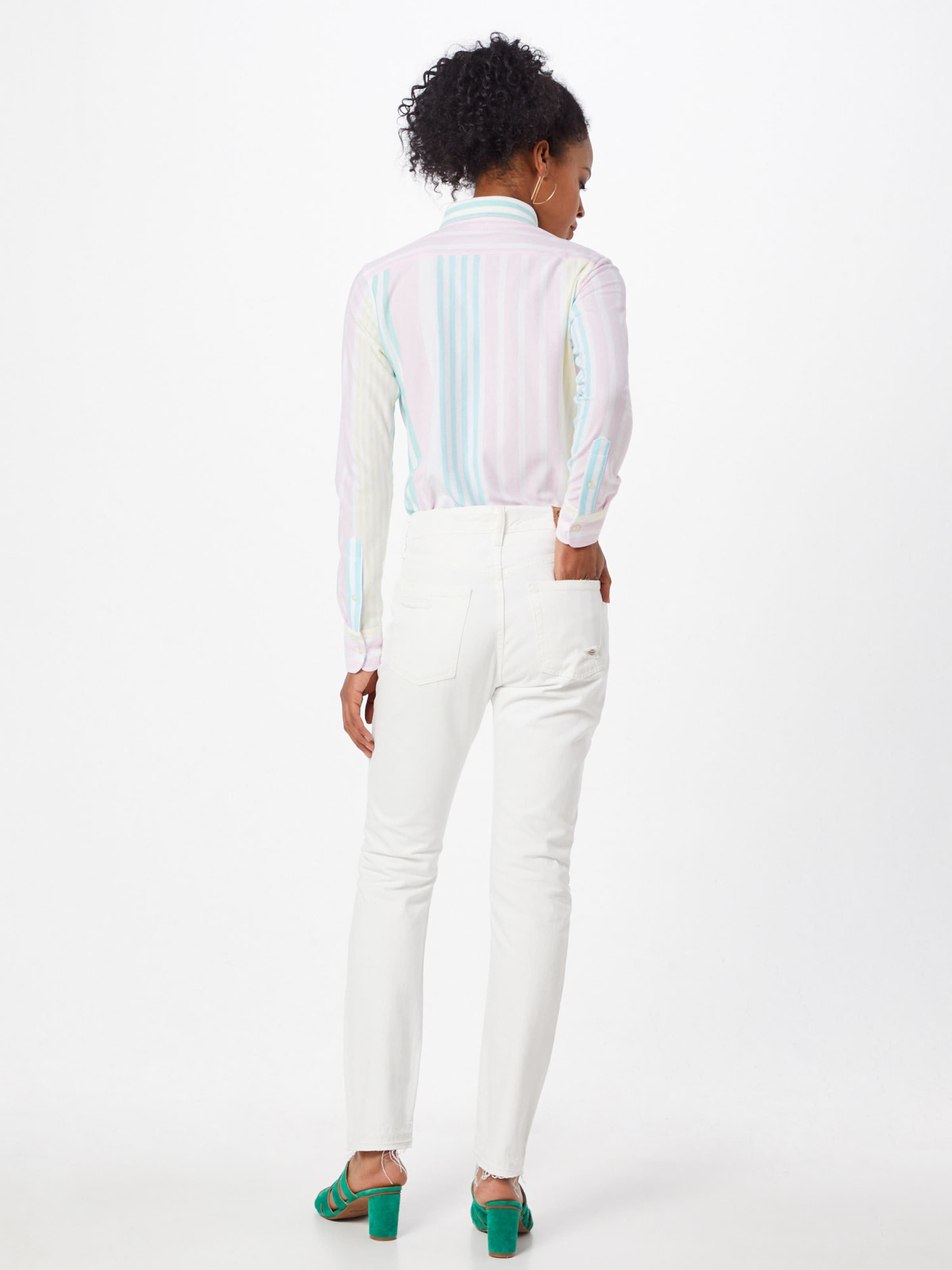 Hr 'calln Lauren Jeans In Slm slim Ralph denim' Weiß Polo m80vNwOn