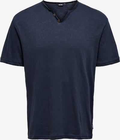 Only & Sons T-Shirt en bleu nuit, Vue avec produit