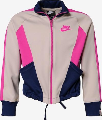 NIKE Trainingsjacke in beige / pink / schwarz, Produktansicht