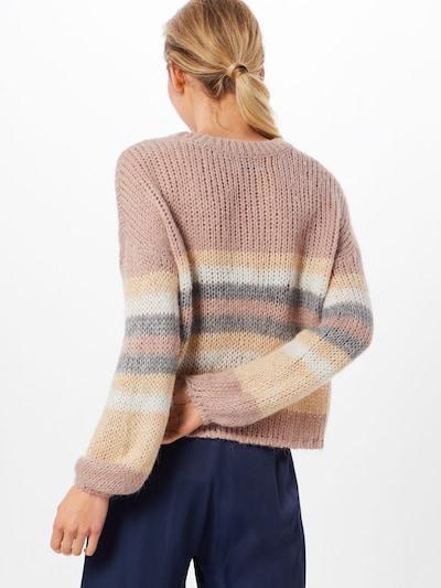 ONLY Pullover 'NEW CARLE' in grau / rosé: Rückansicht