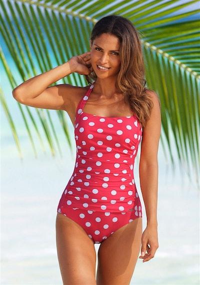 LASCANA Badeanzug in rot / weiß, Modelansicht