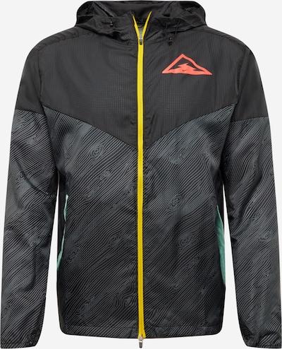 NIKE Sportjacke 'Windrunner' in gelb / grau / rot / schwarz, Produktansicht