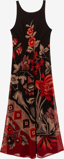 Desigual Šaty - béžová / červená / černá, Produkt