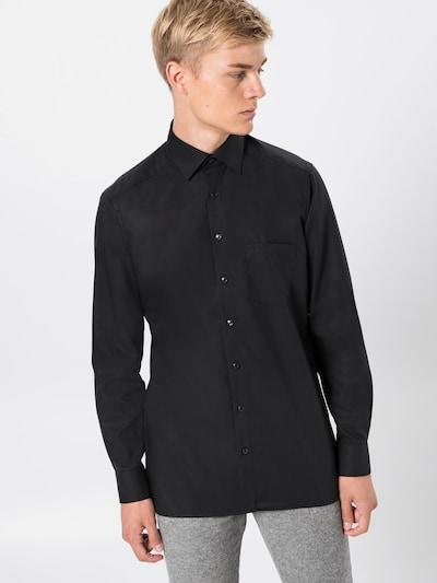 OLYMP Hemd 'Luxor Uni Pop' in schwarz: Frontalansicht