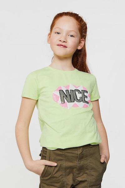 WE Fashion T-Shirt CHANI in grün: Frontalansicht